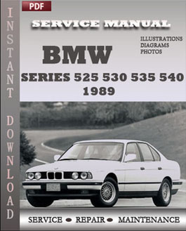 BMW 5 Series 525 530 535 540 1989 manual