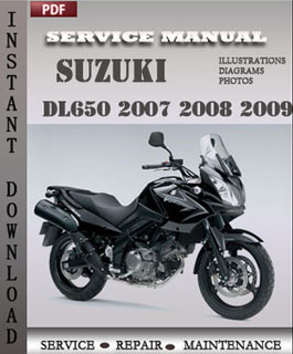 Suzuki DL650 2007 2008 2009 manual