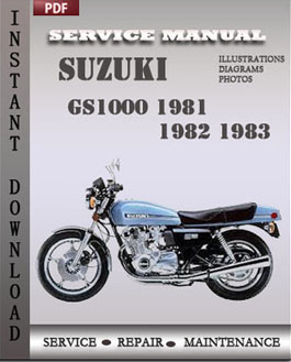 Suzuki GS1000 1981 1982 1983 manual