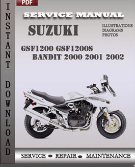 suzuki gsf1200 gsf1200s bandit 2000 2001 2002 service workshop rh digitalfactoryservicemanuals wordpress com suzuki gsf 1200 bandit service manual suzuki gsf 1200 bandit repair manual