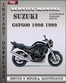 Suzuki GSF600 1998 1999 manual