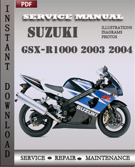Suzuki GSX-R1000 2003 2004 manual