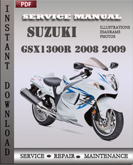 Suzuki GSX1300R 2008 2009 manual