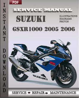 suzuki gsxr1000 2005 2006 service manual download repair. Black Bedroom Furniture Sets. Home Design Ideas