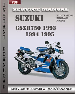 suzuki gsxr750 1993 1994 1995 service repair manual instant download