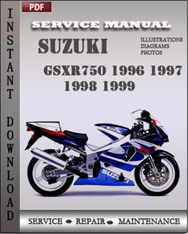 Suzuki GSXR750 1996 1997 1998 1999 manual