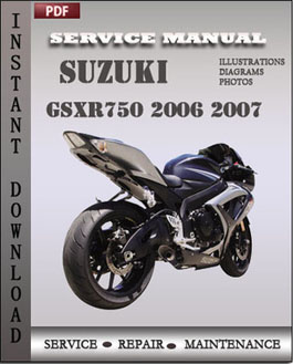 Suzuki GSXR750 2006 2007 manual