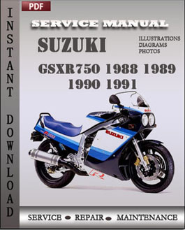 suzuki gsxr750 1988 1989 1990 1991 workshop repair manual. Black Bedroom Furniture Sets. Home Design Ideas