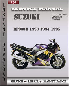 suzuki rf900r 1993 1994 1995 service manual download repair service manual pdf