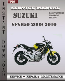 Suzuki SFV650 2009 2010 manual