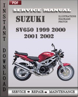 suzuki sv650 1999 2002 service repair manual parts. Black Bedroom Furniture Sets. Home Design Ideas