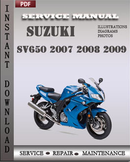 Suzuki SV650 2007 2008 2009 manual