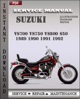 Suzuki VS700 VS750 VS800 S50 1989 1990 1991 1992 manual
