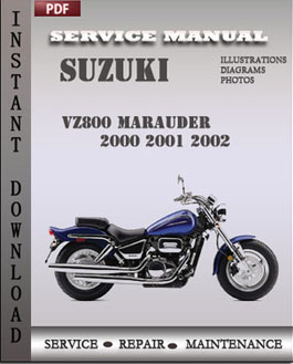 suzuki vz800 marauder 2001 2002 factory manual download. Black Bedroom Furniture Sets. Home Design Ideas