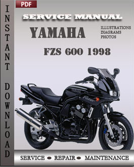 yamaha fzs 600 1998 workshop repair manual repair. Black Bedroom Furniture Sets. Home Design Ideas