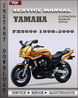 yamaha fzs600 1998 1999 service repair manual repair. Black Bedroom Furniture Sets. Home Design Ideas