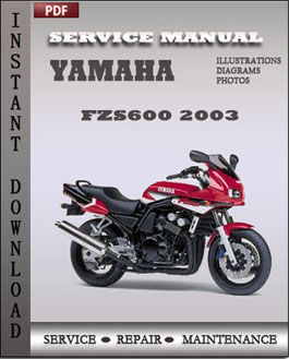 yamaha fzs600 2003 service repair manual repair service. Black Bedroom Furniture Sets. Home Design Ideas