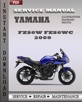 Yamaha FZS6W FZS6WC 2009 manual