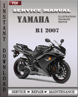 yamaha r1 2007 factory service repair manual instant. Black Bedroom Furniture Sets. Home Design Ideas