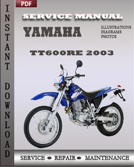 yamaha tt600re 2003 workshop repair manual repair. Black Bedroom Furniture Sets. Home Design Ideas