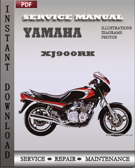 yamaha xj900rk service repair manual instant download. Black Bedroom Furniture Sets. Home Design Ideas