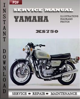 yamaha xs750 factory service repair manual 1976 1982. Black Bedroom Furniture Sets. Home Design Ideas