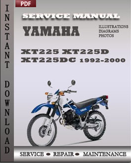 yamaha xt225 xt225d xt225dc 1992 2000 service manual pdf. Black Bedroom Furniture Sets. Home Design Ideas