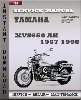 yamaha xvs650 ak 1997 1998 workshop repair manual repair. Black Bedroom Furniture Sets. Home Design Ideas