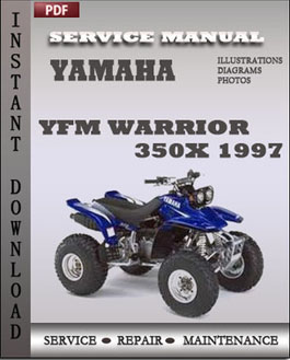 Yamaha YFM Warrior 350X 1997 manual