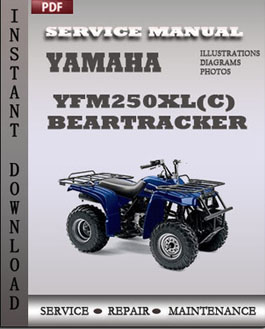yamaha yfm250xl c  beartracker factory manual download