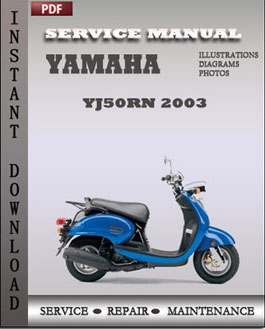 yamaha yj50rn 2003 factory manual download repair. Black Bedroom Furniture Sets. Home Design Ideas