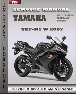 yamaha yzf r1 w 2007 factory manual download global. Black Bedroom Furniture Sets. Home Design Ideas