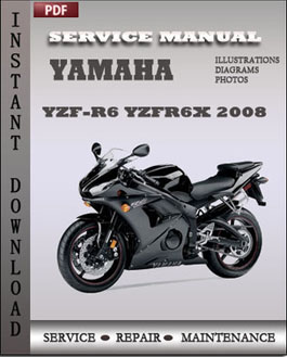 yamaha yzf r6 yzfr6x 2008 service manual download repair. Black Bedroom Furniture Sets. Home Design Ideas