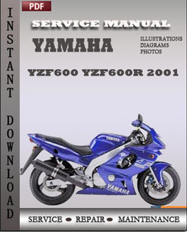 yamaha yzf600 yzf600r 2001 service repair manual instant. Black Bedroom Furniture Sets. Home Design Ideas