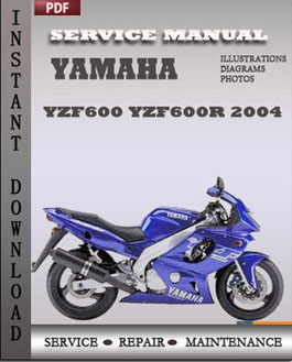 Yamaha yzf600 yzf600r 2004 service repair manual instant for Yamaha rx v1600 manual