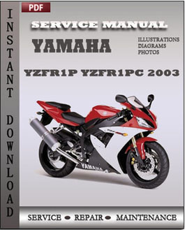 yamaha yzfr1p yzfr1pc 2003 repair manual download repair. Black Bedroom Furniture Sets. Home Design Ideas