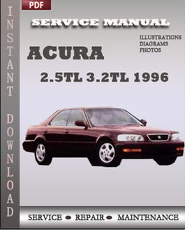 1996 Acura 2.5 TL / 3.2 TL Owners Manual Acura