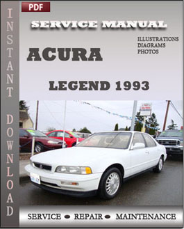 Acura Legend 1993 manual
