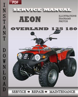 aeon overland 125 180 service repair manual instant download. Black Bedroom Furniture Sets. Home Design Ideas