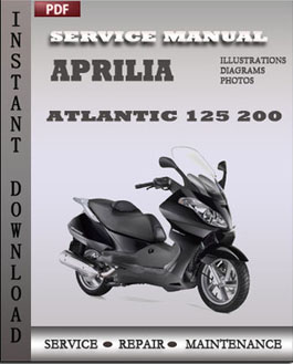 aprilia atlantic 125 200 workshop manual download online. Black Bedroom Furniture Sets. Home Design Ideas