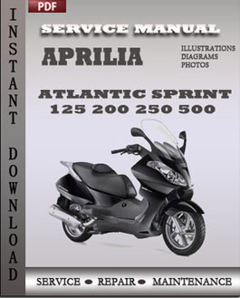 aprilia atlantic sprint 125 200 250 500 service manual. Black Bedroom Furniture Sets. Home Design Ideas