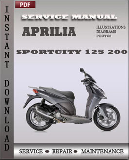aprilia sportcity 125 200 service repair manual instant. Black Bedroom Furniture Sets. Home Design Ideas