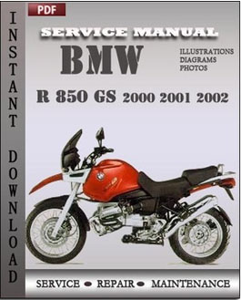 bmw r 850 gs 2001 2002 service manual pdf repair service. Black Bedroom Furniture Sets. Home Design Ideas