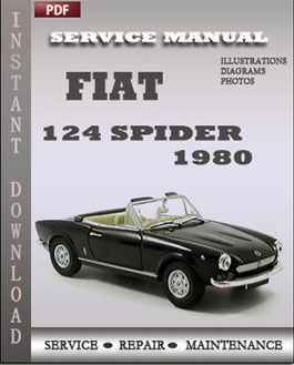 fiat 124 spider 1980 factory manual download global. Black Bedroom Furniture Sets. Home Design Ideas