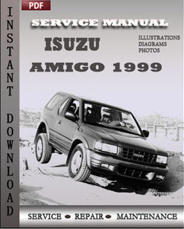 Isuzu Amigo 1999 manual