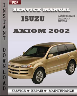 Isuzu Axiom 2002 manual