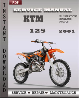 ktm 125 2001 maintenance service repair manual download. Black Bedroom Furniture Sets. Home Design Ideas