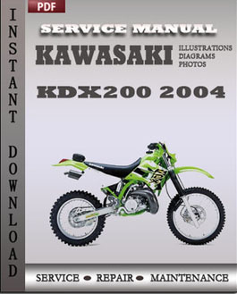 Kawasaki KDX200 2004 manual