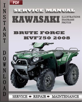 Kawasaki KVF750 Brute Force 2008 manual