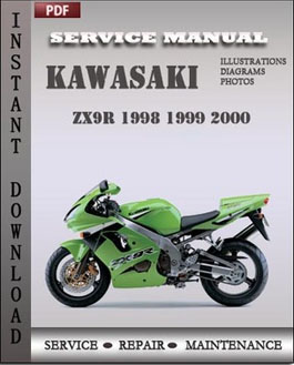 Kawasaki ZX9R 1998 1999 2000 manual